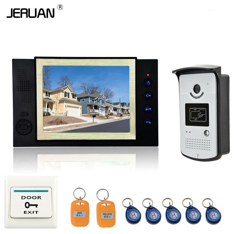 JERUAN Home Security 8 TFT Video Door Phone Doorbell Entry Intercom System Video Recording photo taking