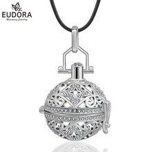 Модный медный металлический детский колокольчик медальон вызывающий ангела клетка с кристаллами гармония бола женский кулон мама быть ювелирные изделия подарок