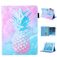 Pink Pineapple Pattern PU and PC With Card Slot Cover Case for iPad 2017 2018 9.7 Air 1 2 Pro 9.7 10.5 Mini 12345 Air 10.5 2019