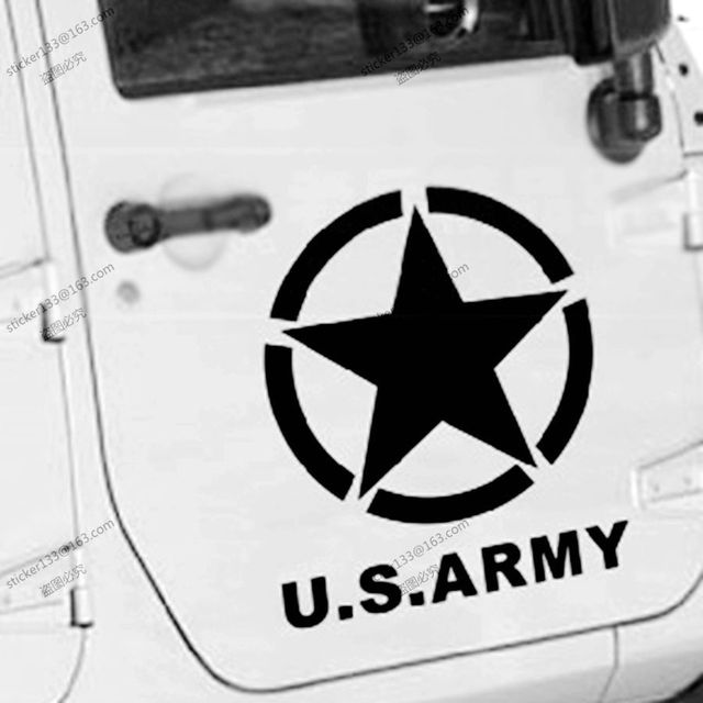 50cm high us army star usmc ww2 vinyl car decal bumper sticker fit for jeep etc