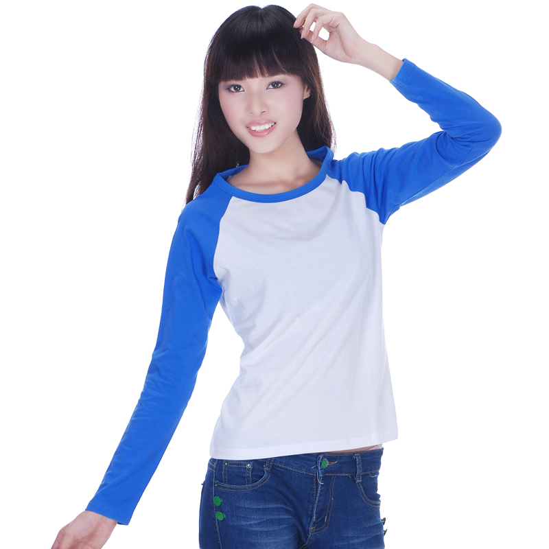 76ac9bd6d19 Sports T shirts For Women Raglan Black Blue Bed Long Sleeve White Tee  Shirts Female Blank Baseball 100% cotton T shirt M L XL-in T-Shirts from  Women s ...