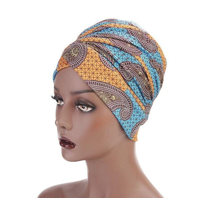 bb60ff64e76 Women Multi Usage Turban Headband African Printing Long Head Wrap Doo Durag  Cotton Long Scarf Jersey