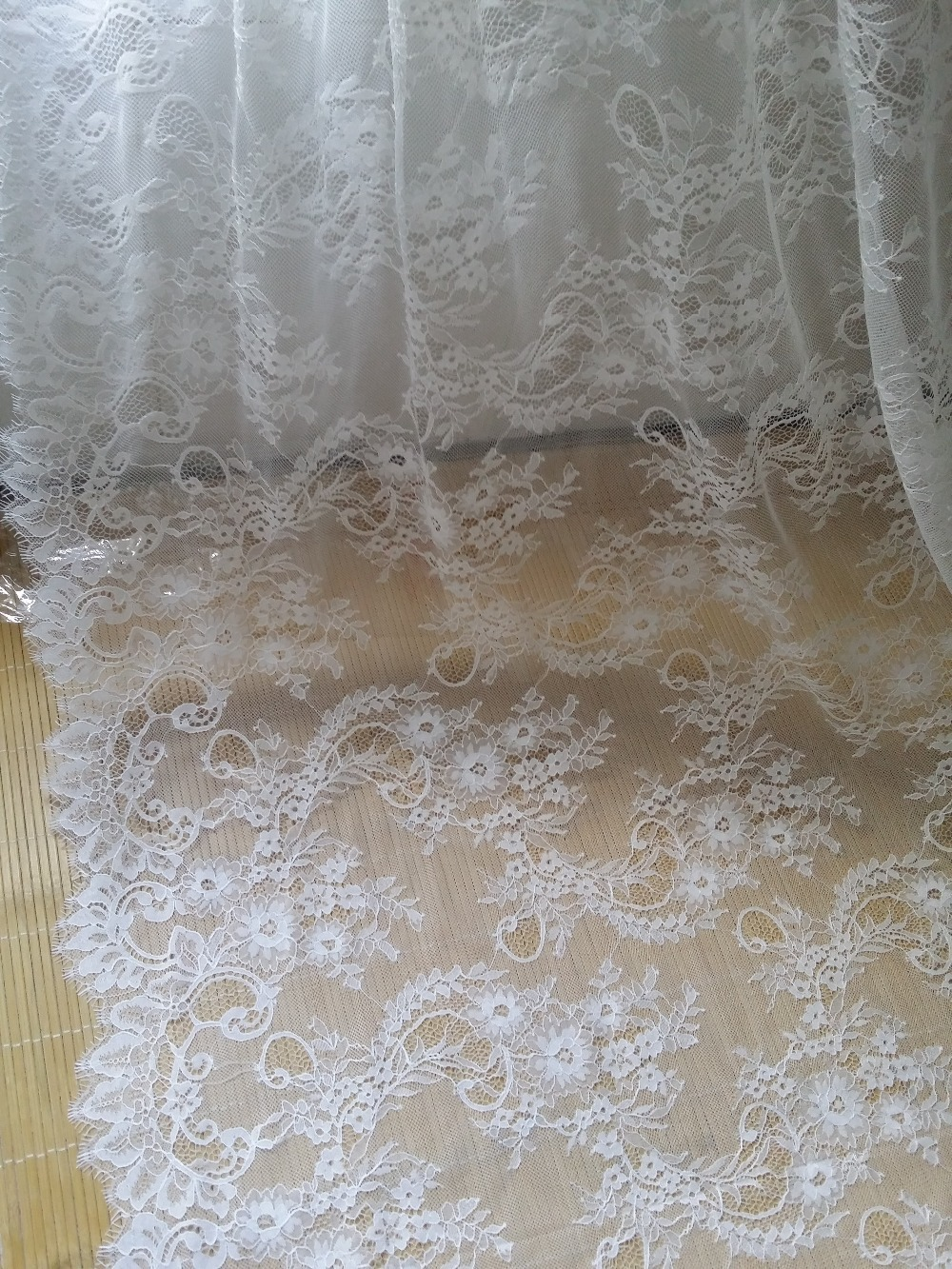 3m long eyelash chantilly lace traditional wedding lace - Chantilly telas ...