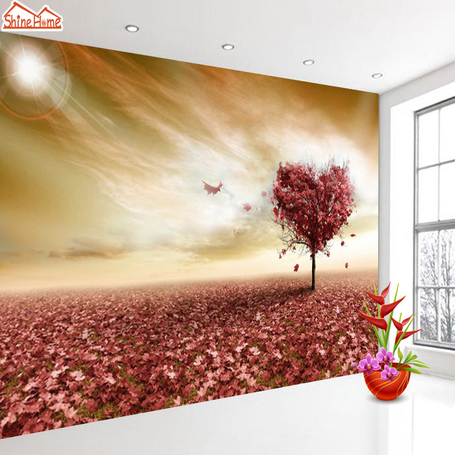 ShineHome-Fantasy Tree Prairie 3d Wallpaper for Walls 3 d Wallpapers for Living Room 3 d Mural Roll Ceiling TV Background Decor shinehome sunflower bloom retro wallpaper for 3d rooms walls wallpapers for 3 d living room home wall paper murals mural roll