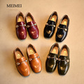 2017 весенние дети новый кожаный shoes kids fashion square single shoes для девушки металлической пряжкой студенты shoes четыре цвета