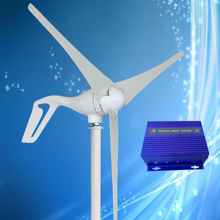 2019 Новое поступление 400 Вт ветряная турбина генератор + ветряной/солнечной гибридный контроллер (макс 600 Вт ветряная турбина, Макс 300 Вт солнечная панель)