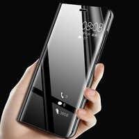 For VIVO Y19 Case Luxury Flip Stand View Mirror Phone Case For VIVO Y19 Back Cover Y 19 Protective Case for vivo y19 U3 Y5S Coqu