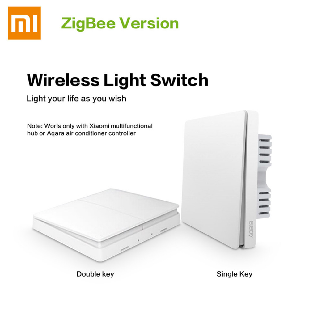 Original Xiaomi Aqara Smart Light Switch ZigBee Remote Control Switch Wifi Wireless APP Control Key Aqara Wall Switch