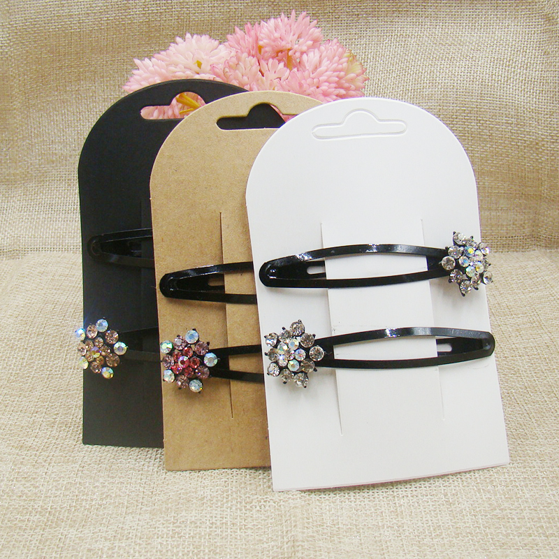 2017 New Hair Clip Card1LOT 50 Cards Jewelry Display Card   New Style Hot  Look Fashion NEW Choose 300gsm Paper Cardboard Make
