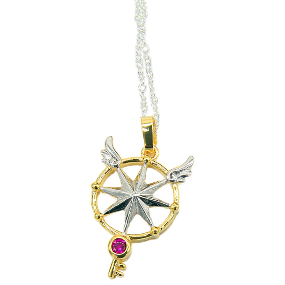 Cardcaptor Sakura Kinomoto Clear Card Arc Dream Key Star Wand Pendant Necklace