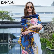 2019 długi jedwabny szal luksusowej marki kobiety nowy projekt koc plażowy szal nosić stroje kąpielowe chustka hidżab osłona twarzy Foulard 245*110cm