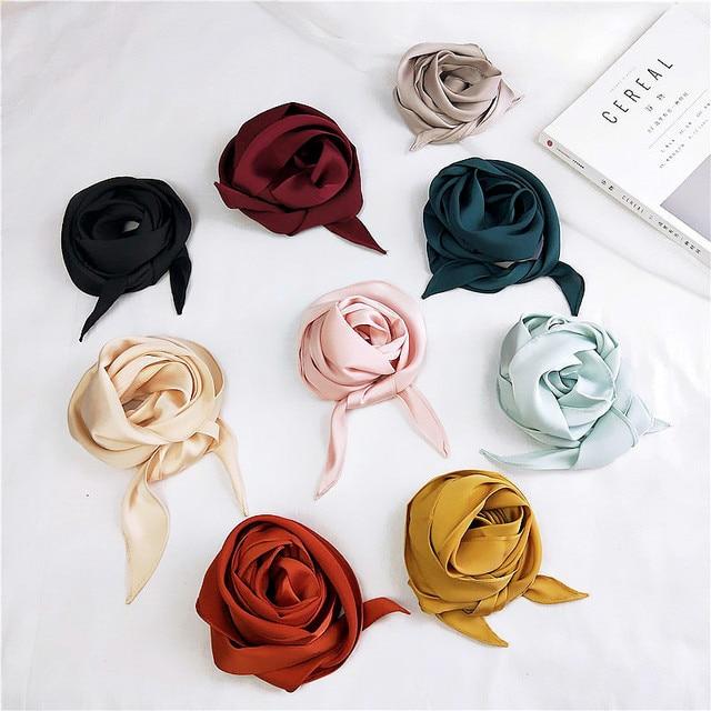 Solid Silk Wrap Scarf 5