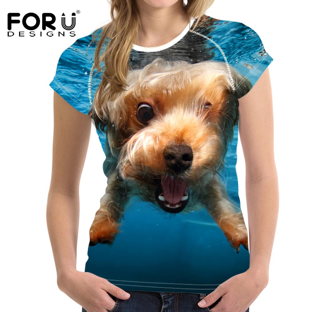 FORUDESIGNS Super Cute Chihuahua Camisetas Mujer Summer Tops - Ropa de mujer - foto 4