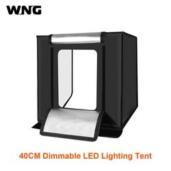 PULUZ 40cm Foldable and Portable 30W Lighting Studio Shooting Tent Box Kit with 3 Colors Backdrops Black, Orange, White