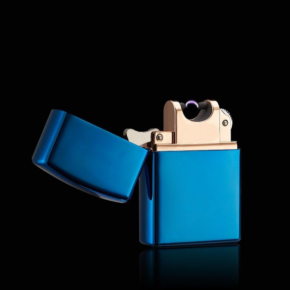 Arc électrique briquet métal coupe-vent allume-cigare électrique Plasma Pulse USB charge cigare fumant briquet pour homme cadeau