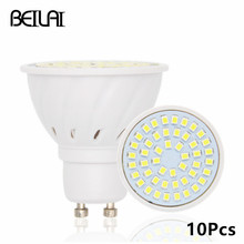 BEILAI 10 stks 2835 GU10 Bombillas Led Lampen Lichten 220 V 2835 Lampada De LED Lamp GU 10 Ampul LED Spotlight Kaars Luz Lamparas(China)