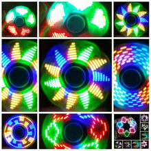 New Light Fidget Spinner Led Stress Hand Spinners Glow In The Dark Figet Spiner Cube EDC Anti-stress Finger Spinner Toy(China)