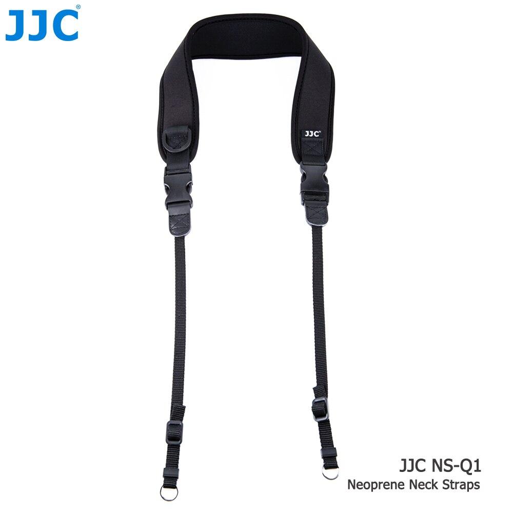 JJC Neoprene DSLR Camera Belt Wide Quick-Release Black Neck Shoulder Strap for Canon/Nikon/Sony/Pentax/Fuji/Olympus/Panasonic