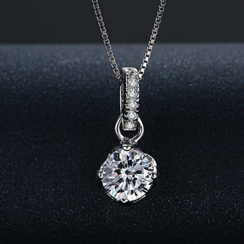 BEST GIFT 925 Sterling Silver Luxury Romantic Ball Necklaces & Pendants Chain For Women Fashion Jewelry Beautiful Maxi Necklace