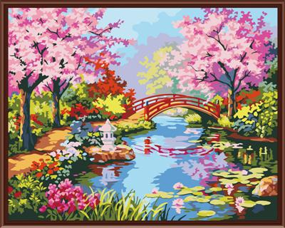 40x50cm Framed picture paint on canvas diy digital oil painting by numbers home decoration craft giftsJiangnan Spring G182