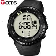 OTS Mens Relojes de Primeras Marcas de Lujo Del Deporte de Digitaces de Los Hombres Led Relojes digitales de reloj reloj Masculino Del Relogio Relojes de Pulsera Para hombres 2016