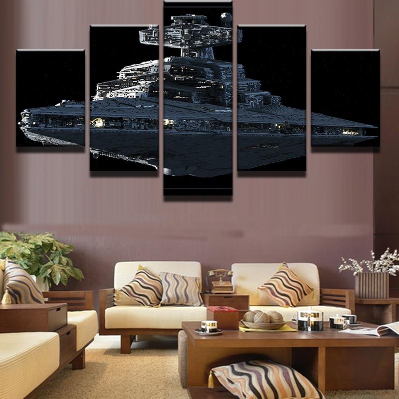 5 Panels Star Wars Imperial Battleship Star Destroyer