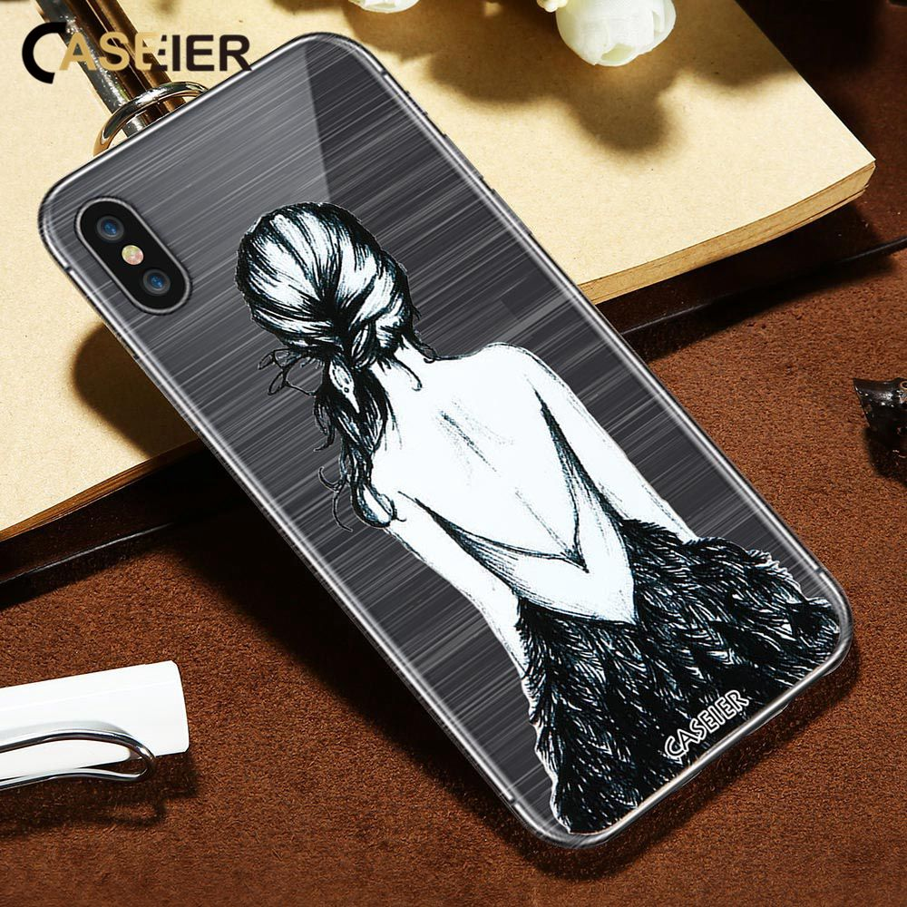CASEIER Patterned Phone Case For iPhone X 3D Emboss Soft Silicone Cover For iPhone 5s 7 8 Plus 6 6s Plus Sexy Funda Capinha