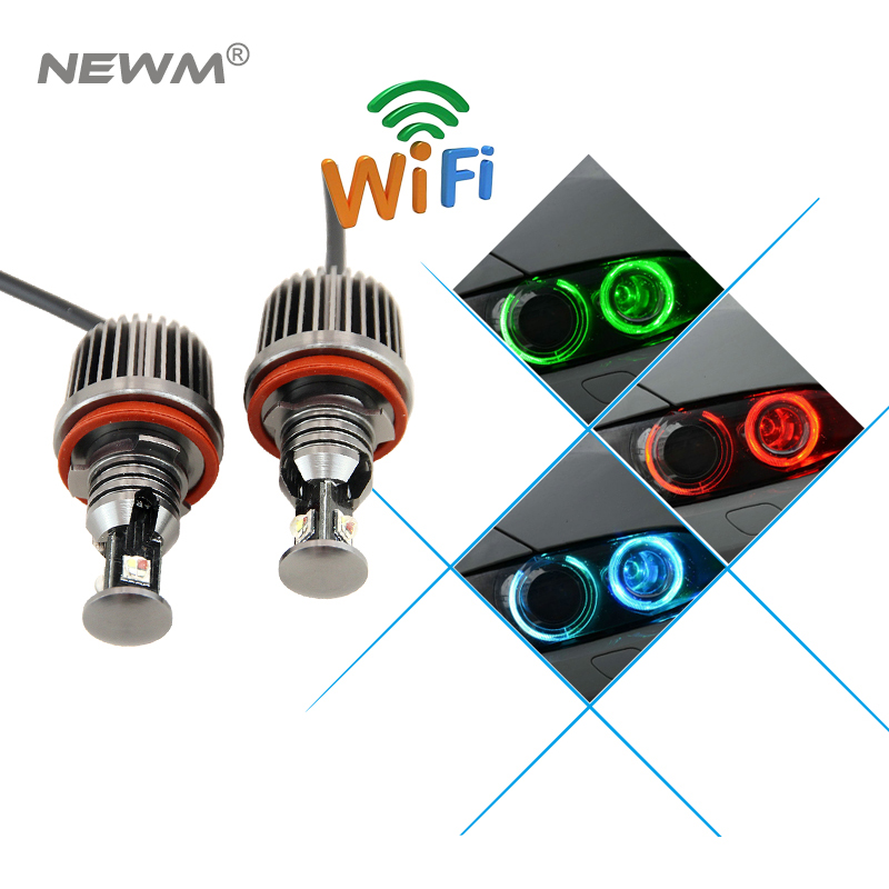 2017 идеальный мульти-цвет RGB телефона WiFi контроллер для RGB глаза ангела водить h8 маркер е92 canbus для BMW Х5 Х6 Е70 е71 Е60 E82 Е92 м3
