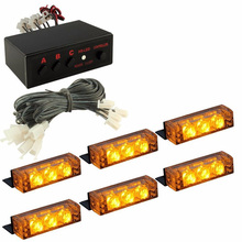 18 LED Emergency Vehicle Car Strobe Flash Lights Front Grille Truck Emergency Driving Light Car Accessories