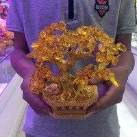 Crystal Citrine Quartz Gemstone Bonsai Lucky Tree|Stones| |  -