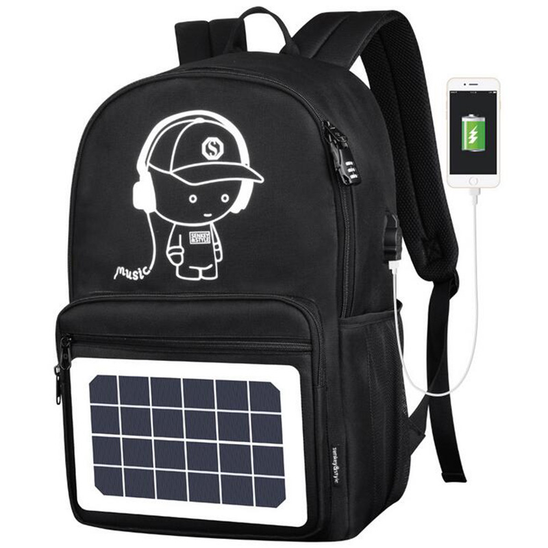New Solar Men s Backpacks School Bags For Teenagers Women Multifunction Anti theft Usb Charging Laptop