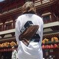Palacio de manga Larga de La Camiseta Para Mujer de Los Hombres de 2017 Nueva Primavera de La Moda Triángulo de Impresión Logo Homme Camisetas Harajuku Loose Pullover S-XXXL