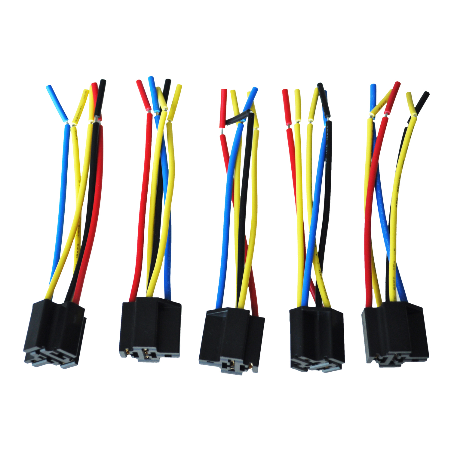 Diagram 5 Pcs 5 Pin Wires Relay Socket Harness Connector Plug Dc