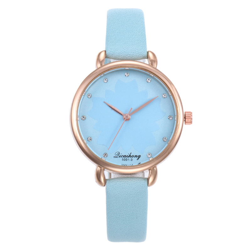 Top Fashion Women Quartz Watch Leather Band