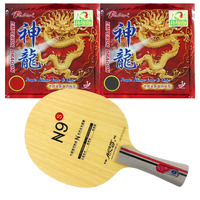 Pro Combo PingPong Racket Galaxy N9s Table Tennis Blade with 2x Palio Emperor Dragon Table Tennis Rubbers Long shakehand FL