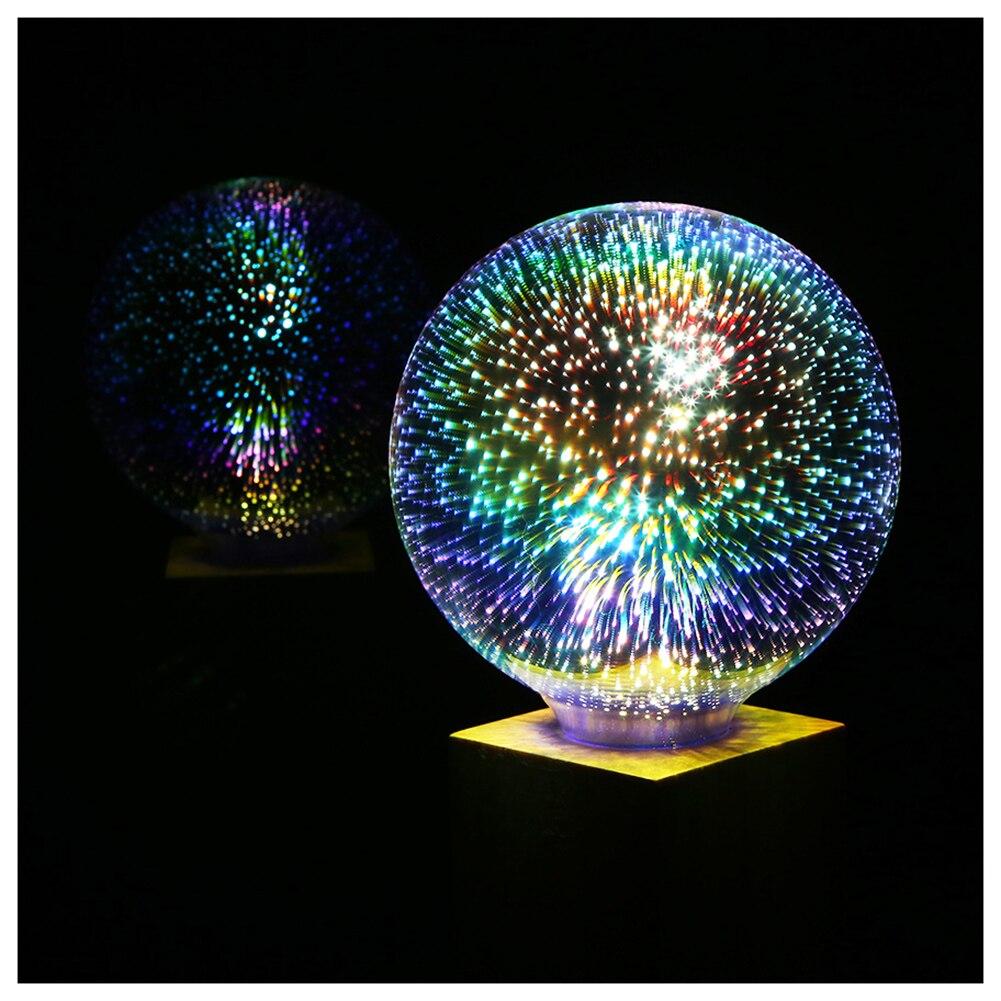 5 watt LED 3D Dekoration Glühbirnen 85 v-265 v Neuheit RGB Lampe G95 Filament Feuerwerk Ball Licht für Haus Urlaub