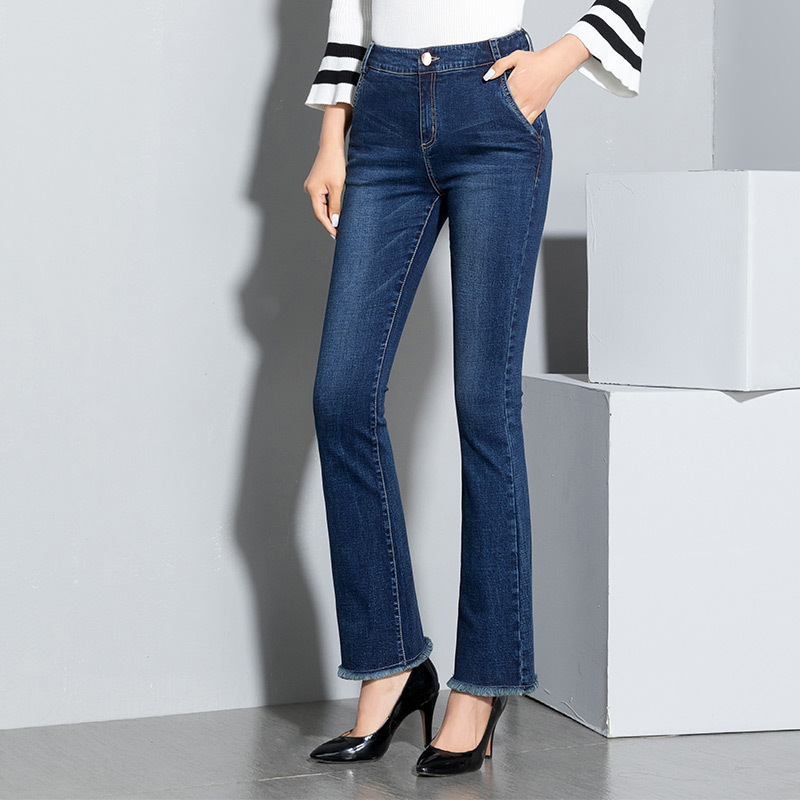 ФОТО Free shipping 2017 New Slim Pants Vintage High Waist Jeans new women pants full length pants loose pants DM-SC6808