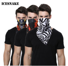 ICESNAKE Motorcycle Face Mask Bicycle Bike Cycling Scarf Moto Face Mask Camping Hiking Dustproof Neckerchief Scarves Headband