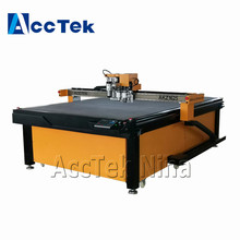 AccTek 1600*2500mm work area cnc oscillating vibrating knife cutting machine for foam fabric leather round knife cutter