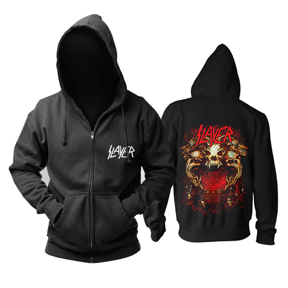 Bloodhoof  Slayer Band Heavy Metal Speed Metal Fashion Balck Top Mucis Hoodie Asian Size