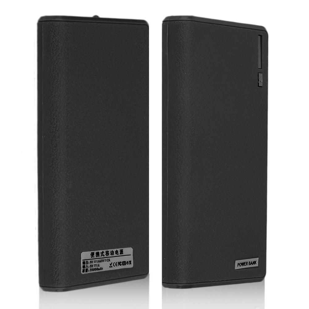 18000mAh 6*18650 Powerbank Case No Battery Portable Dual USB Quick Charge Power Bank External Battery Charger Power Supply Bank universal ultra thin solar powered external power bank 4000mah 6000mah polymer battery dual usb charger supply for smart phones