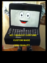 Hot Sale Cotumes Computer LAPTOP MASCOT COSTUME Adult Cartoon Character Anime Cosply Fancy Dress Suits Mascotte Kits for AD 1829