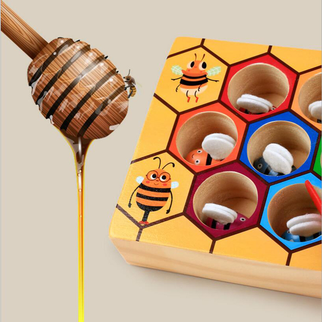 Bee Hive Wooden Board Game for Kids