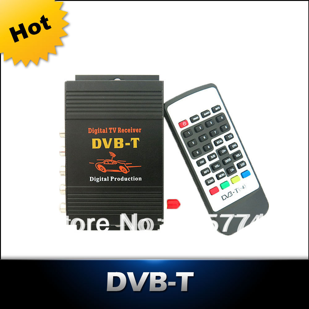 ФОТО Car DVB-T MPEG-4 HD tuner Digital TV BOX receiver box Single Antenna for European Free shipping
