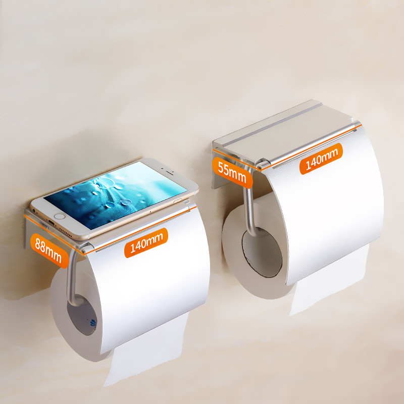 Creative modern aluminum alloy Toilet Paper Holder Storage rack wall-mounted roll paper holder Bathroom accessories leyden copper 4 color toilet roll holder toilet paper holder with shelf wall mounted toilet paper rack bathroom accessories