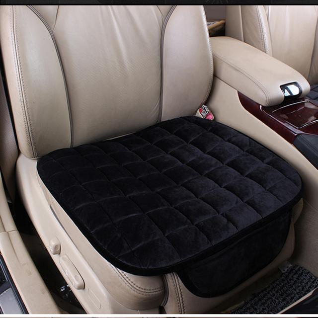 Pedaço único conjunto de almofada do assento de carro assento almofada do assento de pelúcia inverno slip-resistente térmica