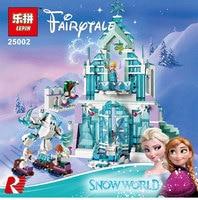 Lepin 25002 Snow World Series The Elsa S Magical Ice Castle Set Building Blocks Bricks Legoinglys