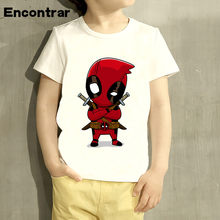 Boys/Girl Deadpool Superhero Funny Cartoon Design T Shirt Kids Great Casual Short Sleeve Tops Children Cute T-Shirt,HKP2237(China)