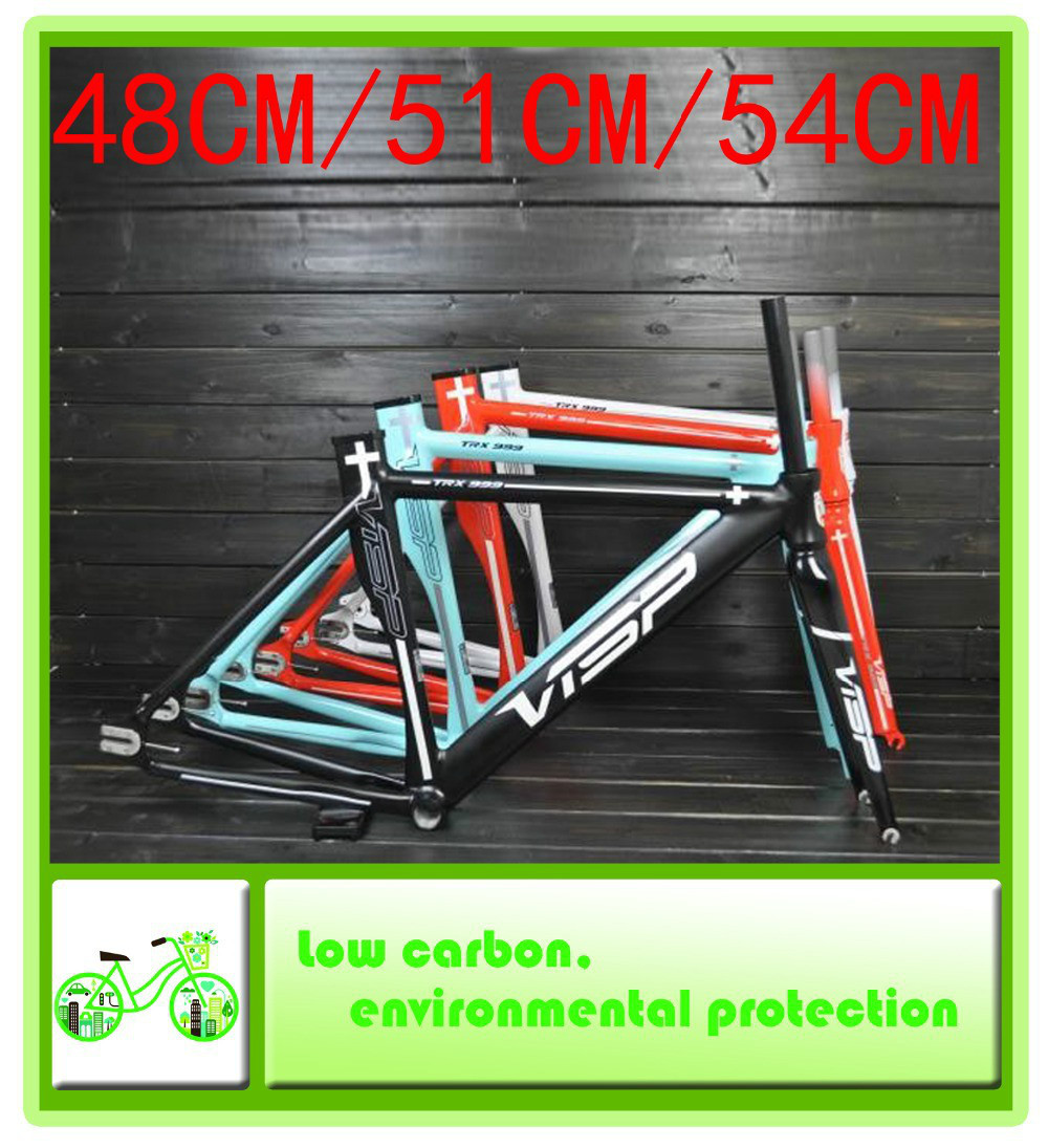 17ad284f61f 2015 New VISP TRX999 48CM   51CM   54CM aluminum fixed gear bicycle 1573g