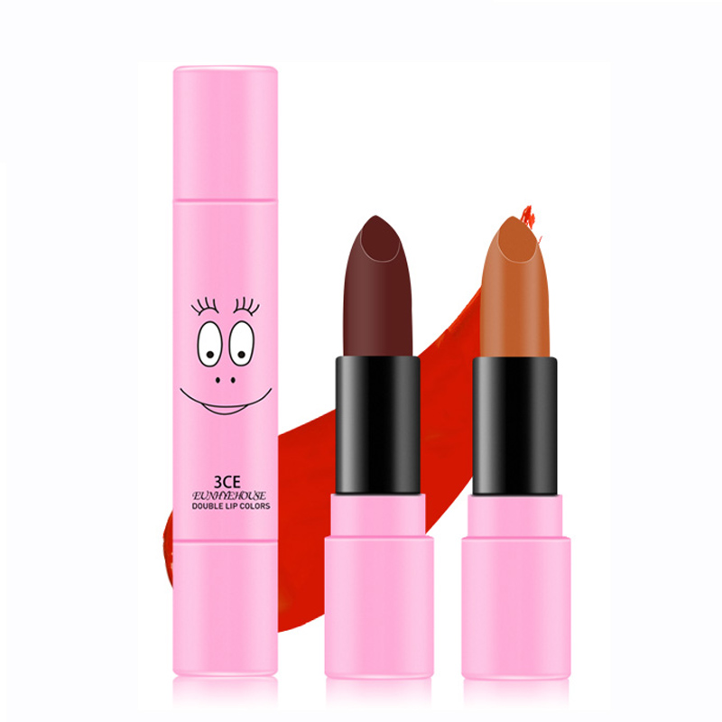 3CE EUNHYE HOUSE Brand Lip Makeup Long-lasting Lip Gloss Easy To Wear Lip Cosmetics Double Lipstick Matte Lipsticks Hot Sale